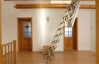 Cầu thang xếp cho gác xép